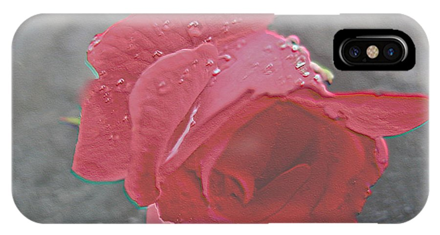 Stone Cold Rose IPhone X / XS Case featuring the photograph Stone Cold Rose by Debra   Vatalaro