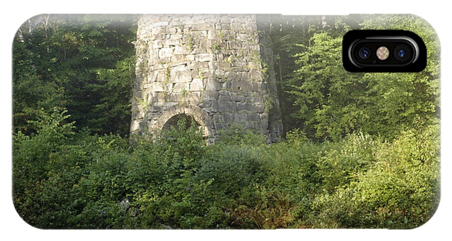 New England IPhone X / XS Case featuring the photograph Stone Iron Furnace - Franconia New Hampshire by Erin Paul Donovan