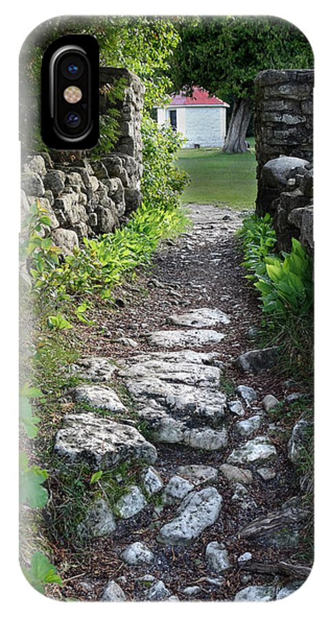 Stones IPhone X / XS Case featuring the photograph Stone Pathway by David T Wilkinson