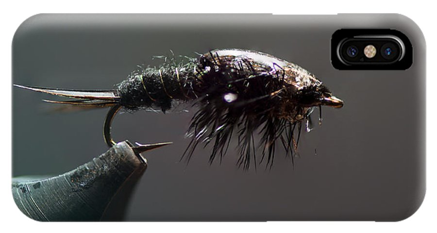 Fly Tying IPhone X / XS Case featuring the photograph Stonefly Nymph by Philip Rispin