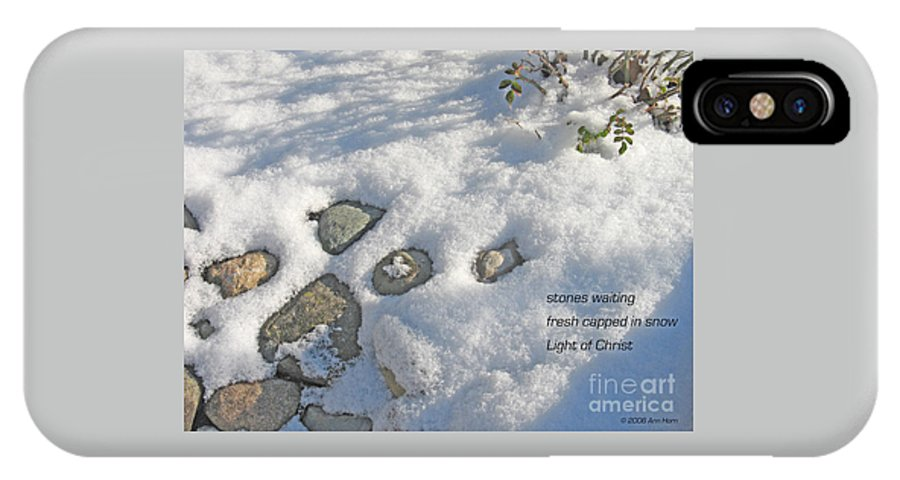 Christmas IPhone X Case featuring the photograph Stones Waiting by Ann Horn