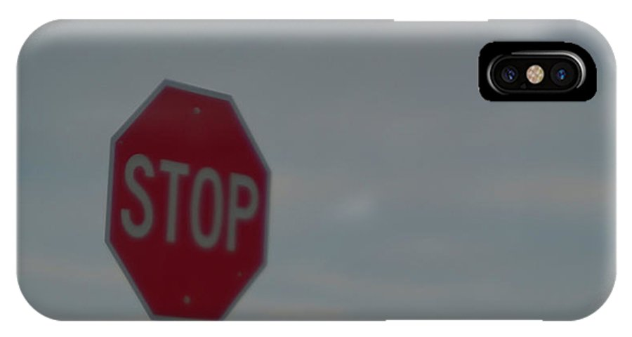 Stop IPhone X Case featuring the photograph Stop Sign Stays The Same by Marc Storch