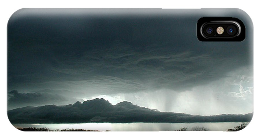 Admore IPhone X Case featuring the photograph Storm At Admore by D'Arcy Evans