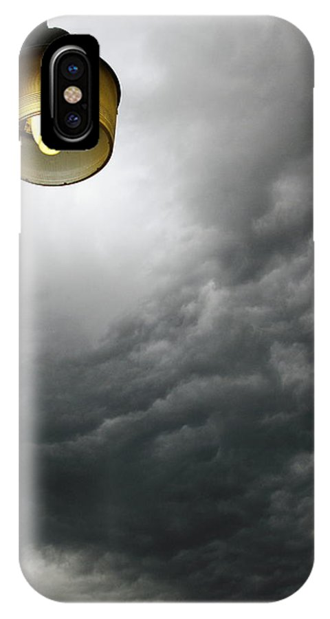 Storm IPhone X Case featuring the photograph Storm Clouds 2am-113933 by Andrew McInnes