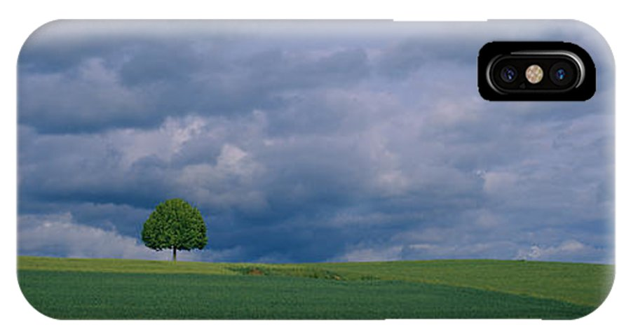 Storm Clouds Over A Field Zurich Iphone X Case