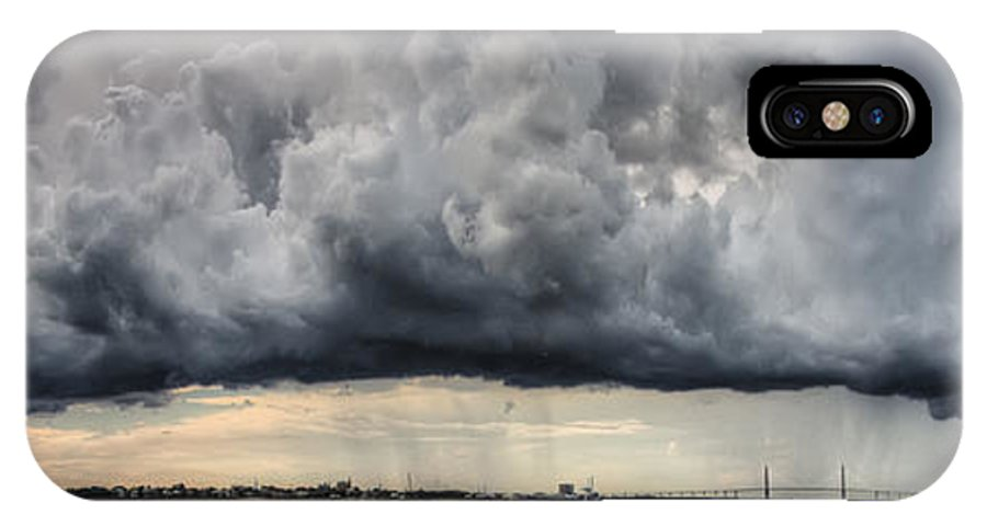 Storm Clouds Over Charleston South Carolina IPhone X Case featuring the photograph Storm Clouds Over Charleston South Carolina by Dustin K Ryan