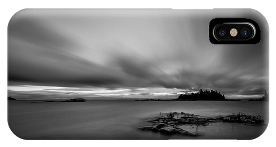 Canada IPhone X Case featuring the photograph Storm In Black And White by Dawn M Smith