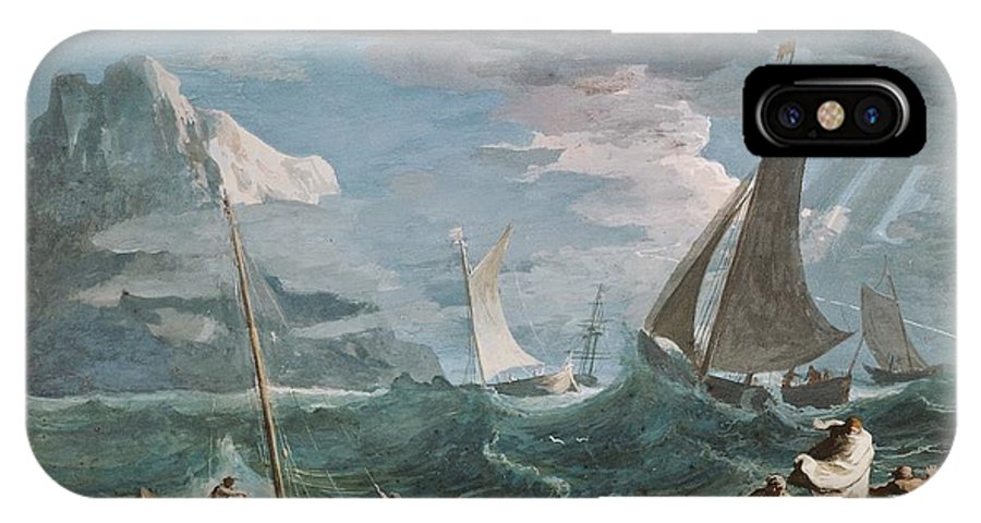 Marco Ricci IPhone X Case featuring the painting Storm by MotionAge Designs
