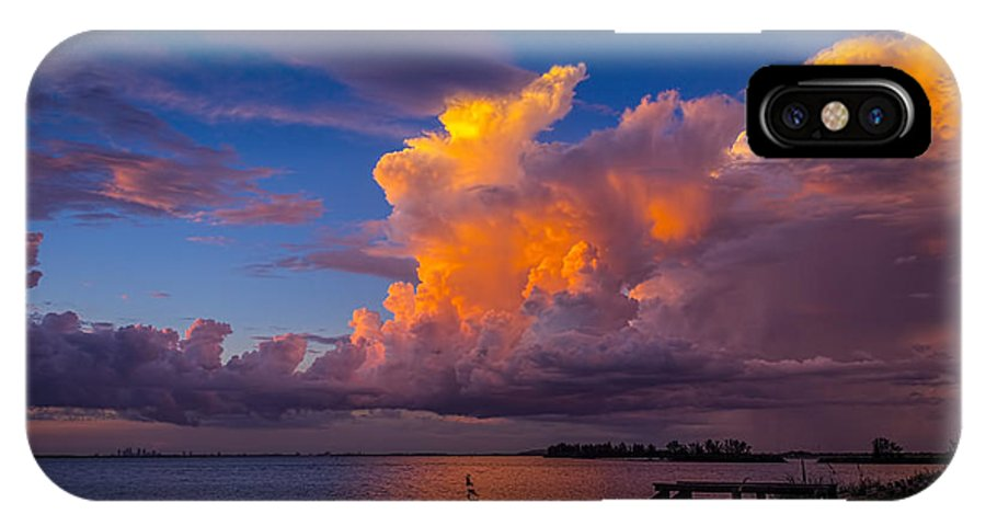 Thunder Storms IPhone X Case featuring the photograph Storm On Tampa by Marvin Spates