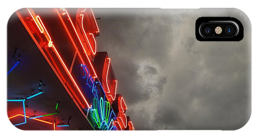Kansas IPhone X Case featuring the photograph Storm Over Augusta by Crystal Socha