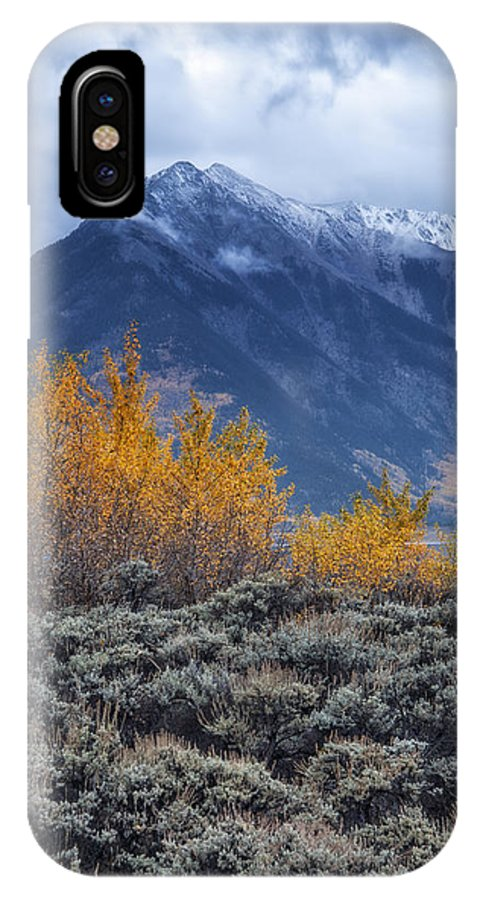 Storm IPhone X Case featuring the photograph Storm Over Twin Peaks by Morris McClung
