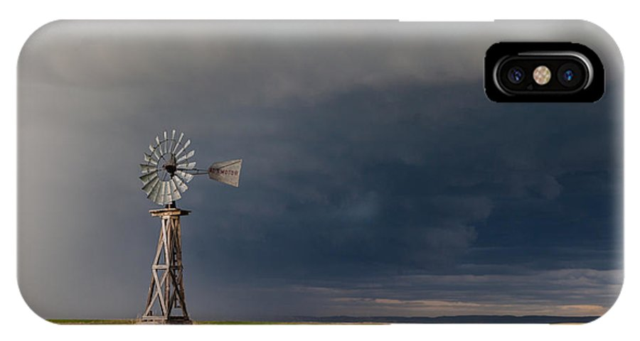 Windmill IPhone X / XS Case featuring the photograph Storm Ready by Bobby Eddins