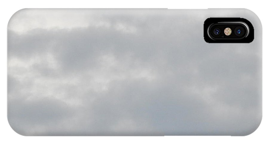 Sky IPhone X Case featuring the photograph Stormclouds by Annette Miller