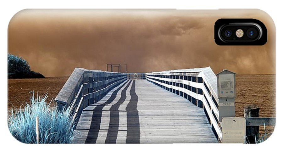 Storm IPhone X / XS Case featuring the photograph Stormy Day Shadows by Rebecca Parker