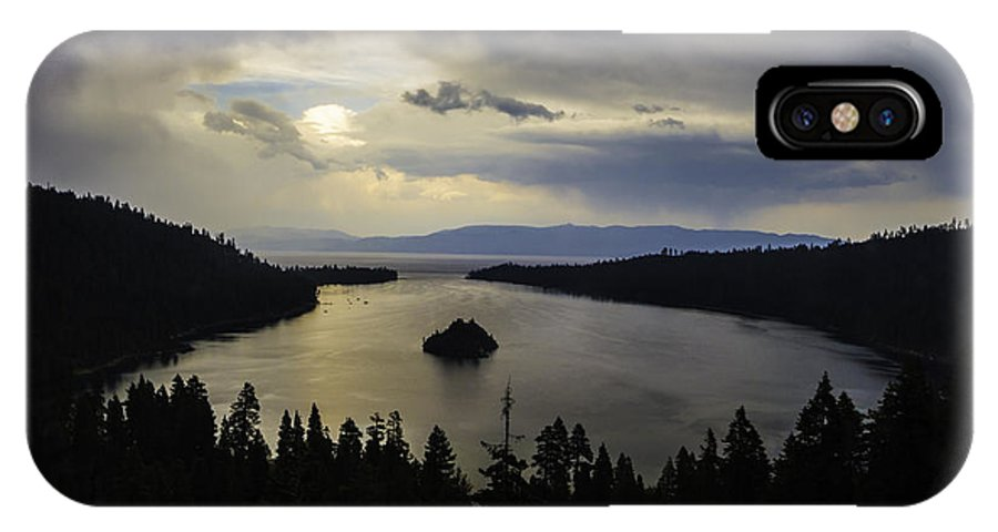 Stormy Emerald Bay IPhone X Case featuring the photograph Stormy Emerald Bay by Mitch Shindelbower