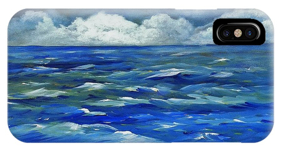 Ocean IPhone X Case featuring the painting Stormy Seas by Rich Fotia