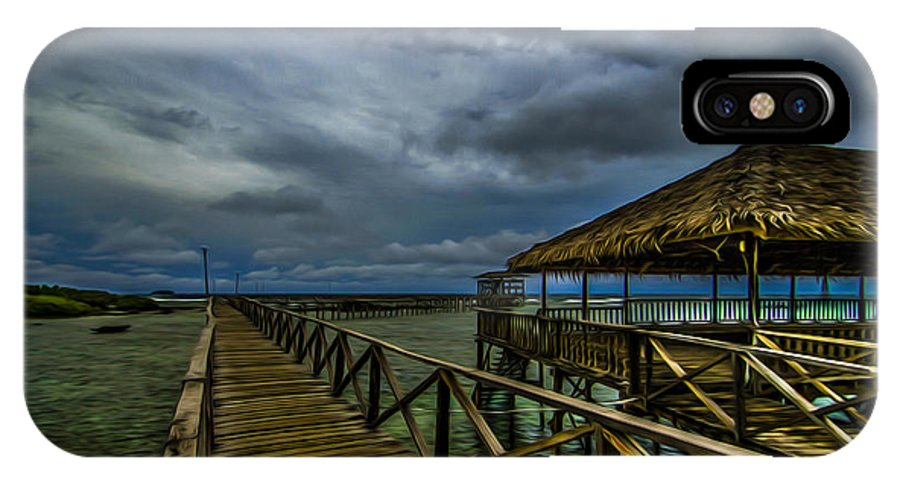 Siargao IPhone X Case featuring the photograph Stormy Siargao by Ferli DCruz
