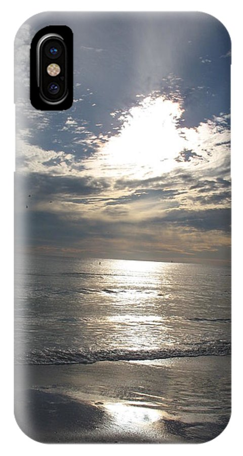 Sky IPhone X Case featuring the photograph Stormy Sky by Christiane Schulze Art And Photography