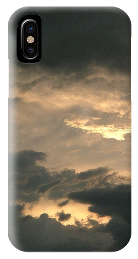 Thunderstorm IPhone X Case featuring the photograph Stormy Sky by Philip Rispin