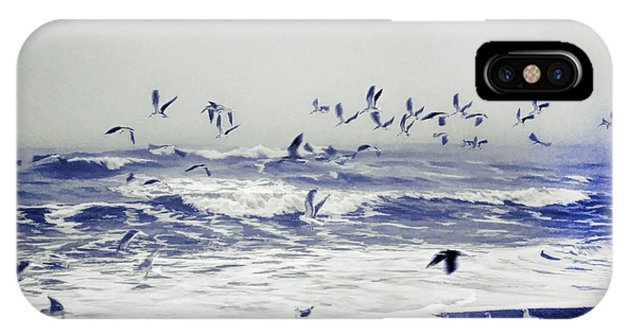 Fog IPhone X / XS Case featuring the photograph Stormy Sunrise by Lea Gallardo