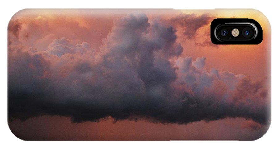 Supercell IPhone X Case featuring the photograph Stormy Sunset by Ed Sweeney