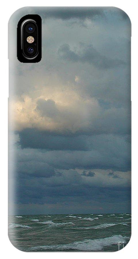 Clouds IPhone X Case featuring the photograph Stormy Wind by Barbara Keagler
