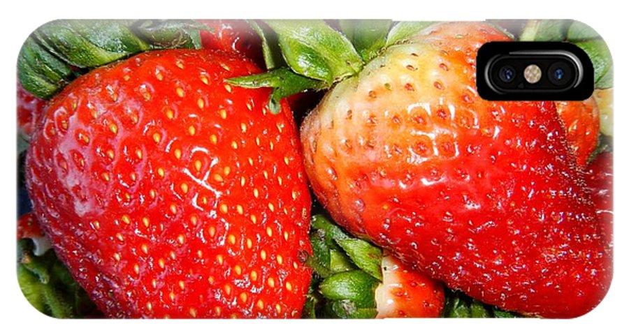 Strawberries IPhone X / XS Case featuring the photograph Strawberries by Loreta Mickiene