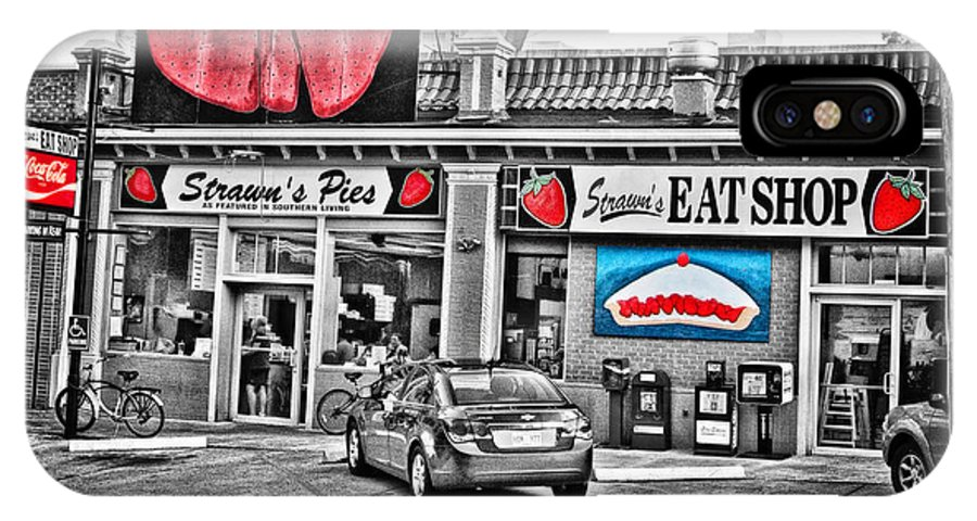 Strawn's Eat Shop IPhone X Case featuring the photograph Strawn's Eat Shop by Scott Pellegrin