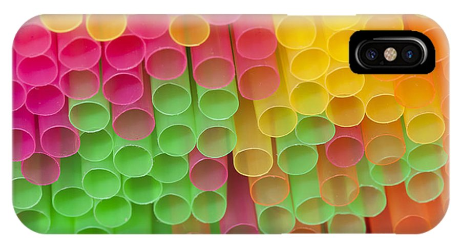 Sipper IPhone X Case featuring the photograph Straws by Michal Boubin