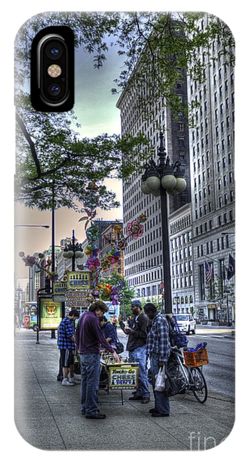 Michigan Avenue IPhone X Case featuring the photograph Street Chess by David Bearden