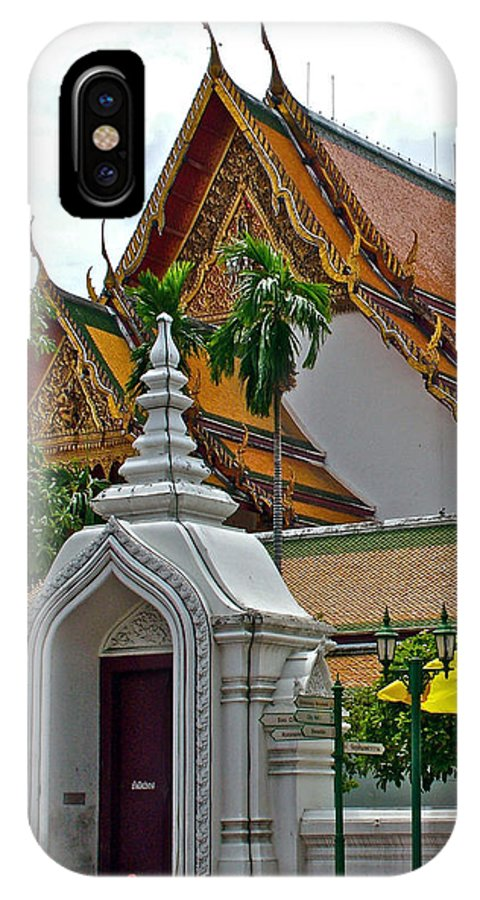 Street Entry To Wat Po In Bangkok IPhone X / XS Case featuring the photograph Street Entry To Wat Po In Bangkok-thailand by Ruth Hager