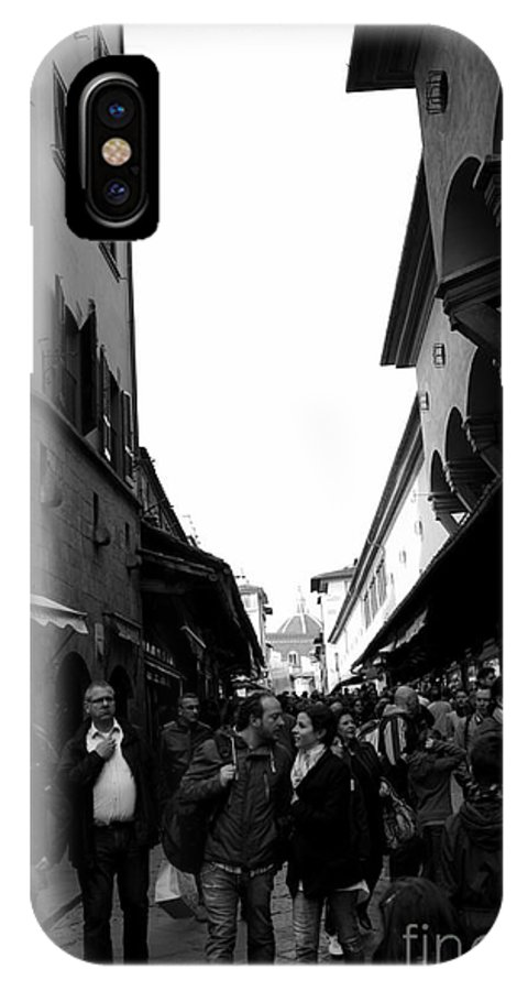 Street Photography IPhone X Case featuring the photograph Street Of Florence by Kitrina Arbuckle