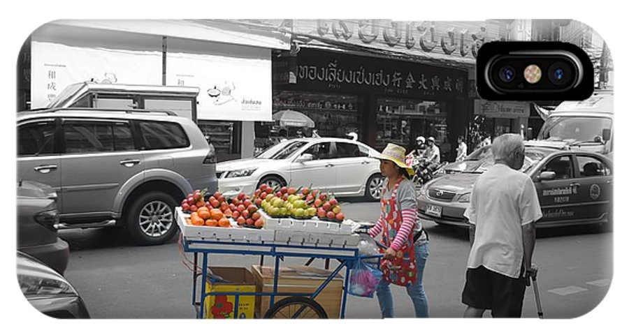 Michelle Meenawong IPhone X Case featuring the photograph Street Seller by Michelle Meenawong