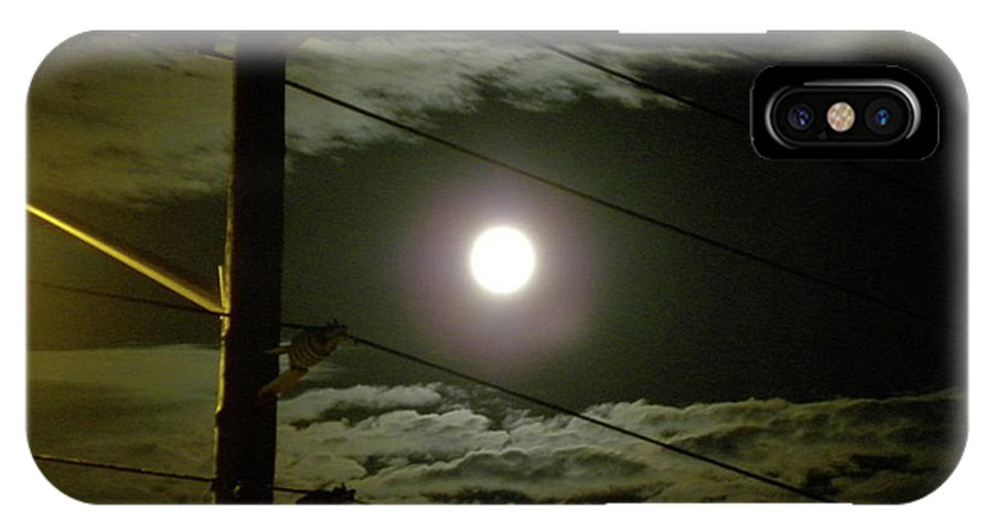 Full Moon IPhone X / XS Case featuring the photograph Street Views 1 by Laura Yamada