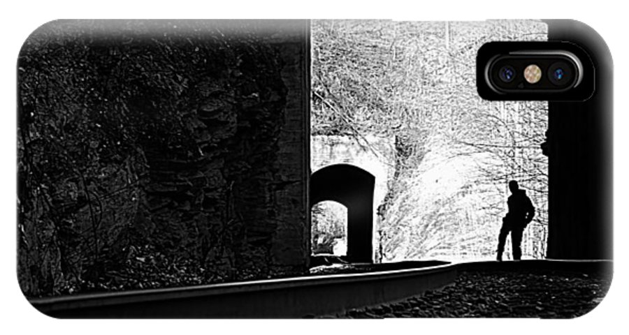 Train Tunnels IPhone X Case featuring the photograph Strike A Pose by Tammy Schneider
