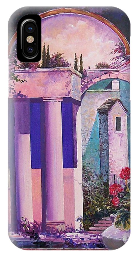 Still Life IPhone X Case featuring the painting Structures With Emotional Dimensions by Sinisa Saratlic