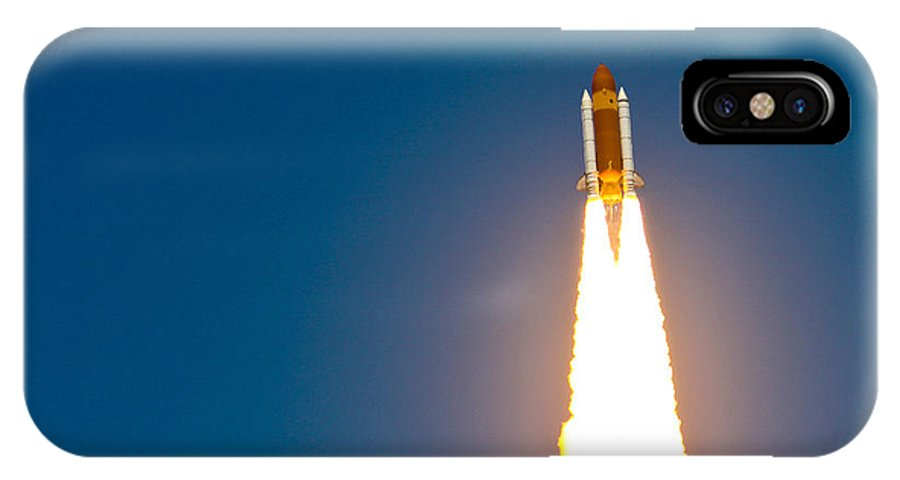 Space Shuttle IPhone X / XS Case featuring the photograph Sts132 Launch by James Mordars
