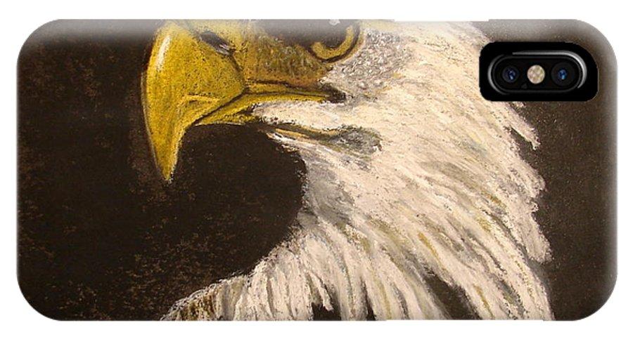 Bald Eagle IPhone X Case featuring the painting Stuarts Eagle by Joseph Hawkins