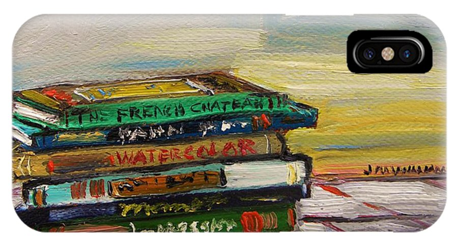 Studio Books IPhone X Case featuring the painting Studio Books by John Williams