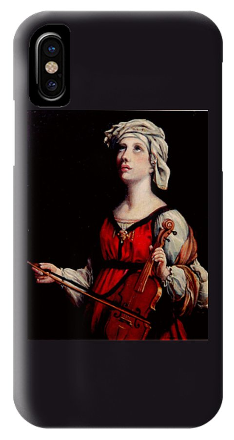 People IPhone X Case featuring the painting Study Of St. Cecelia by Donna Tucker