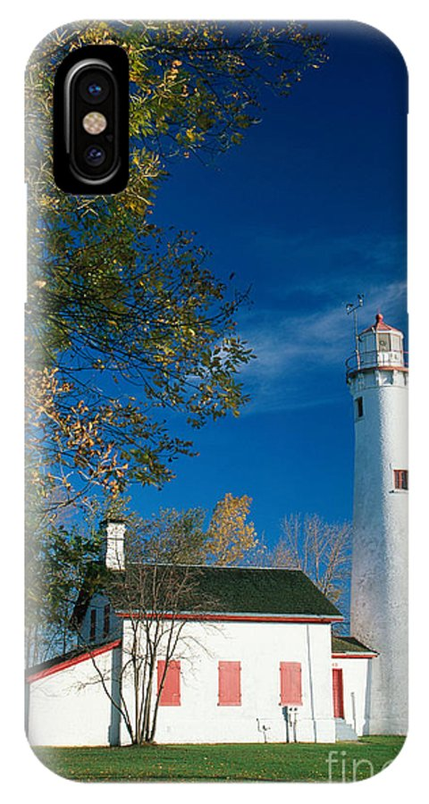 Lighthouse IPhone X / XS Case featuring the photograph Sturgeon Point Lighthouse by David Davis