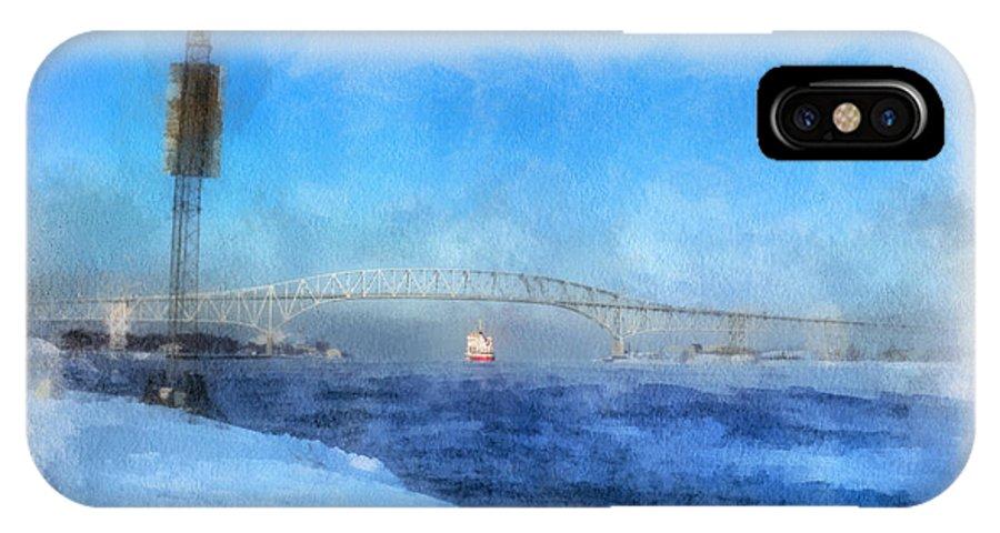 Sub-zero Blue Water IPhone X Case featuring the digital art Sub-zero Blue Water by Rick Lloyd