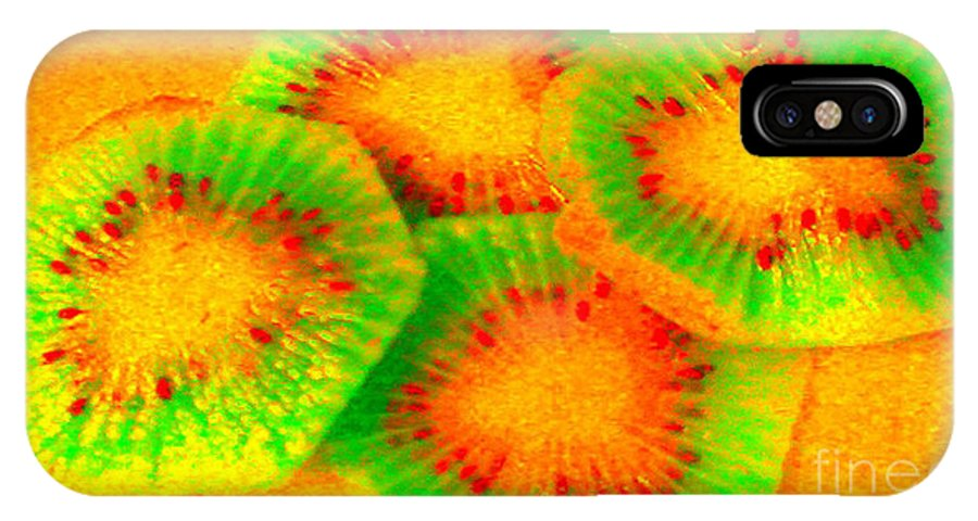 Kiwi IPhone X Case featuring the photograph Sublime Kiwi by Catherine Ratliff