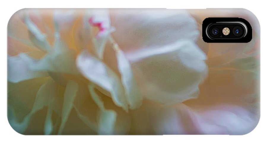 Peony IPhone X Case featuring the photograph Subtle Beauty by Liz Evensen