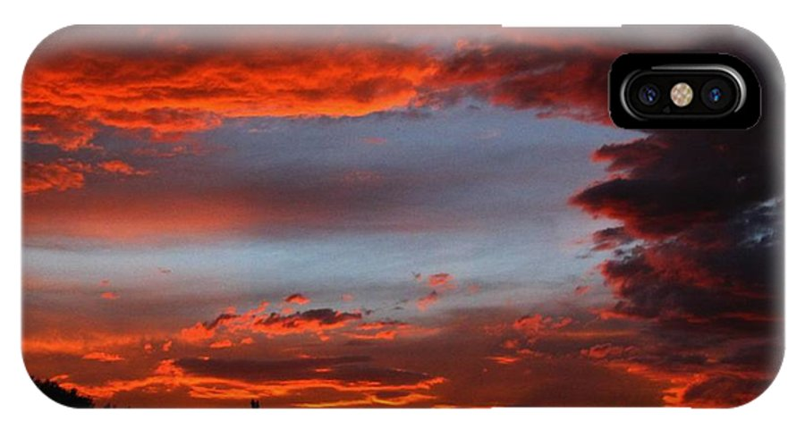 Sky IPhone X Case featuring the photograph Subtle Rage by Tammy Marsh