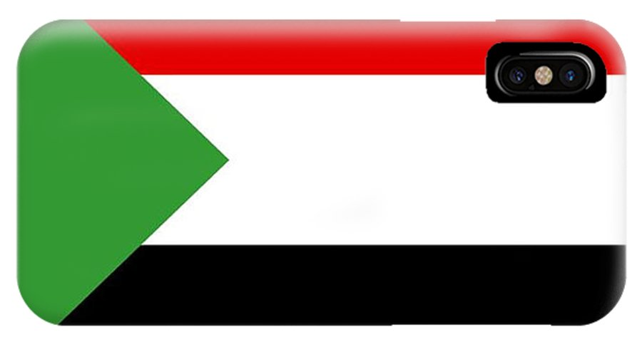 Sudan IPhone X Case featuring the digital art Sudan Flag by Frederick Holiday