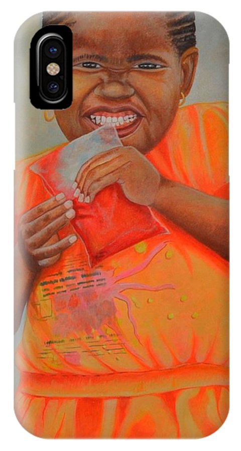 Portrait IPhone X Case featuring the painting Sugar Baby by Andy Ballentine