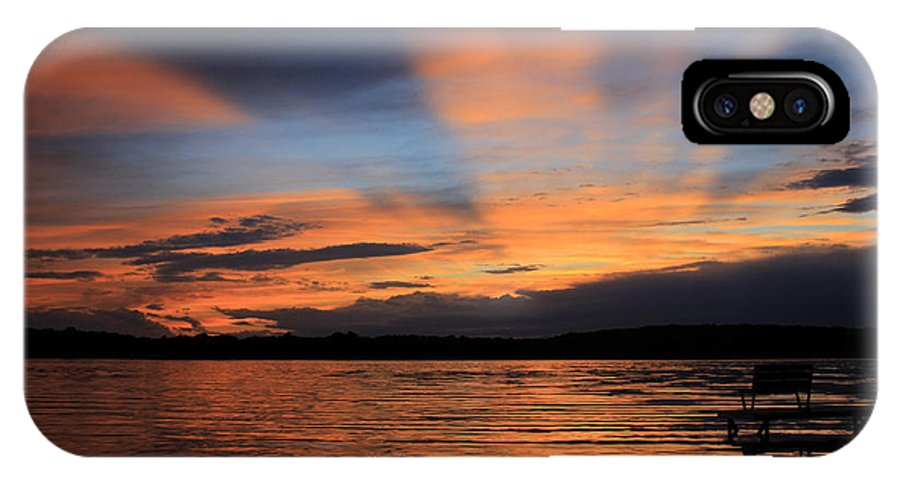 Sunset IPhone X Case featuring the photograph Sugarloaf Lake by Kathy DesJardins