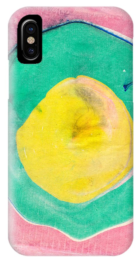 Suminagashi IPhone X Case featuring the painting Suminagashi Circles by Janet Gunderson