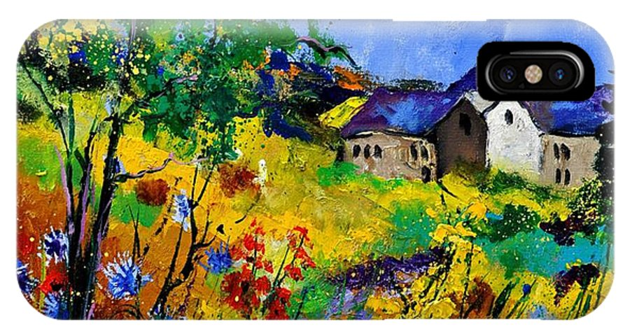 Landscape IPhone X Case featuring the painting Summer 673180 by Pol Ledent
